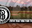 2014 15u-18u Fall Tryouts Logo