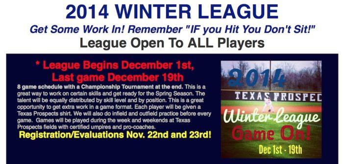 Texas Prospects Presents 2014 Winter League