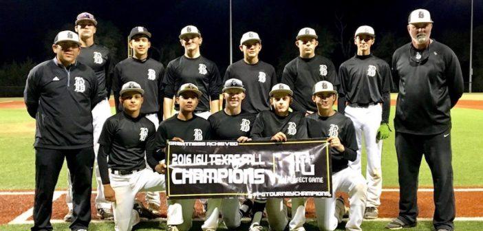 Austin Banditos win 2016 Perfect Game 16u Texas Fall Championship!